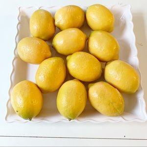Other - Dozen faux yellow lemons bundle set